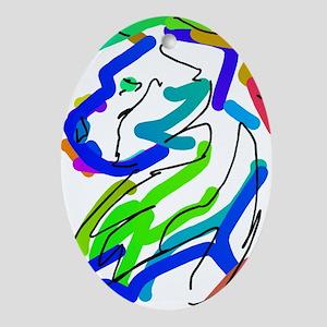 Shetland Sheepdog Abstract Ornament (Oval)