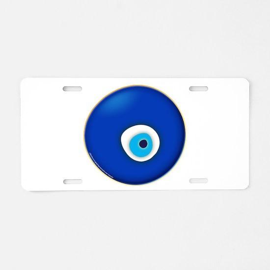 Evil Eye Aluminum License Plate