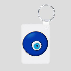 Evil Eye Aluminum Photo Keychain