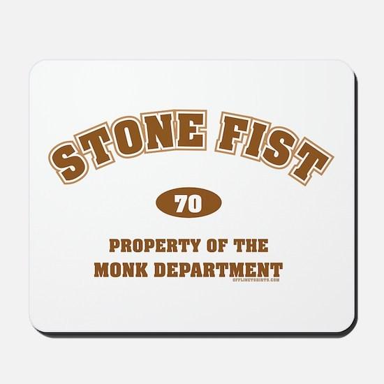 Stone Fist Monk Dept Mousepad