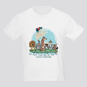 Animals for Earth Day Kids Light T-Shirt