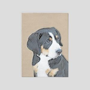 Bernese Mountain Dog Puppy 5'x7'Area Rug