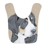Bernese Mountain Dog Puppy Polyester Baby Bib
