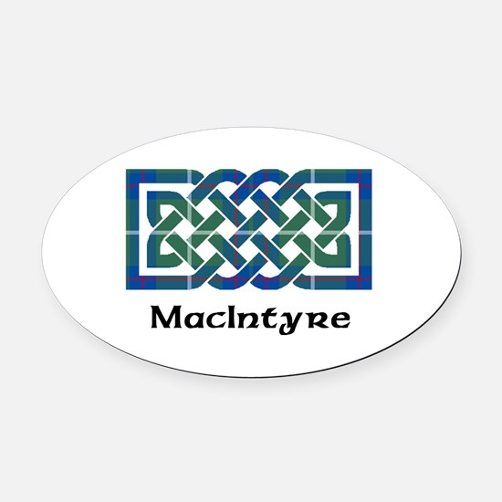 Knot-MacIntyre hunting Oval Car Magnet