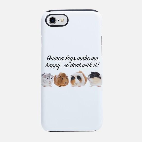 Guinea Pigs make me happy iPhone 7 Tough Case