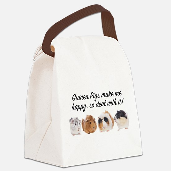 Guinea Pigs make me happy Canvas Lunch Bag