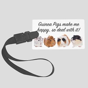 Guinea Pigs make me happy Luggage Tag