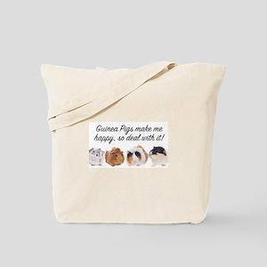 Guinea Pigs make me happy Tote Bag