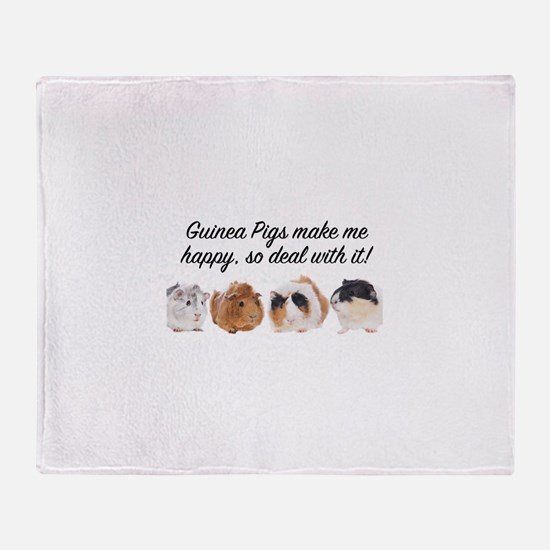 Guinea Pigs make me happy Throw Blanket