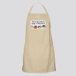 Guinea Pigs make me happy Light Apron