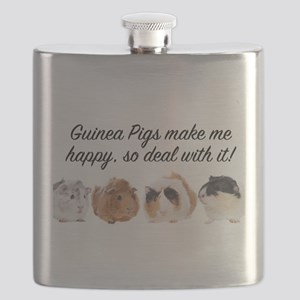 Guinea Pigs make me happy Flask