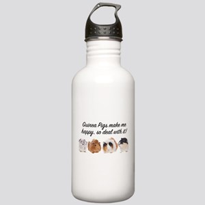 Guinea Pigs make me happy Water Bottle