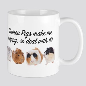 Guinea Pigs make me happy Mugs