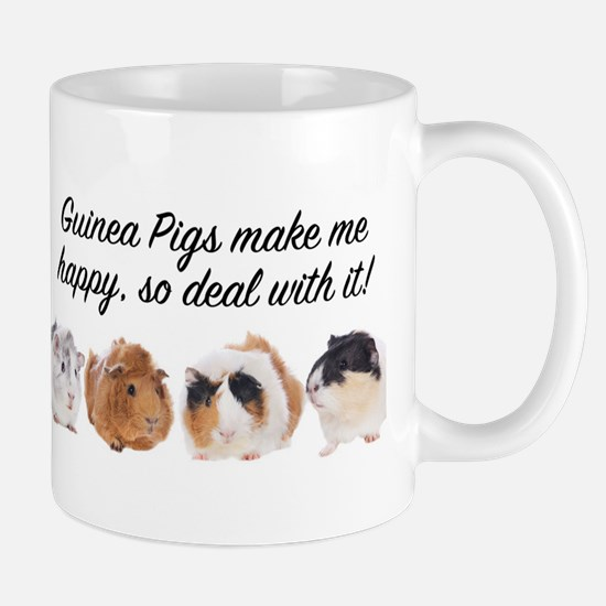 Guinea Pigs make me happy Mugs