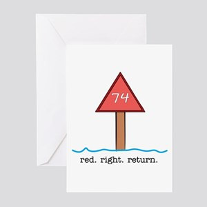 Red Right Return Greeting Cards (Pk of 10)