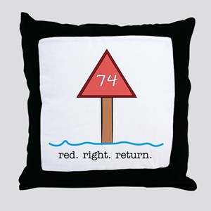 Red Right Return Throw Pillow