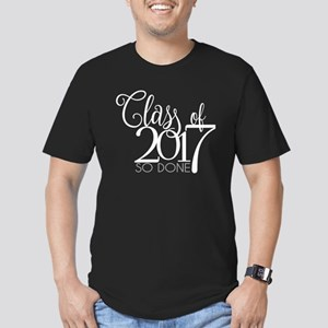 Class of 2017 So Done Men's Fitted T-Shirt (dark)