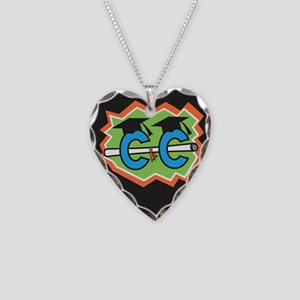 Cross Country Grad Necklace Heart Charm