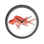Hawaiian Squirrelfish Wall Clock