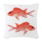 Hawaiian Squirrelfish Woven Throw Pillow