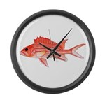 Hawaiian Squirrelfish Large Wall Clock