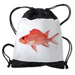 Hawaiian Squirrelfish Drawstring Bag
