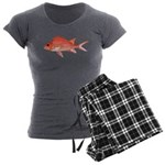 Hawaiian Squirrelfish Women's Charcoal Pajamas