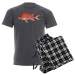Hawaiian Squirrelfish Men's Charcoal Pajamas