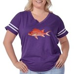 Hawaiian Squirrelfish Women's Plus Size Football T