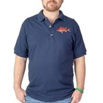 Hawaiian Squirrelfish Dark Polo Shirt