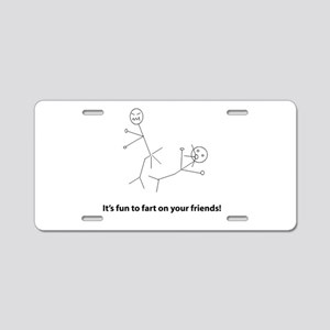 Funny Fart On Friends Aluminum License Plate