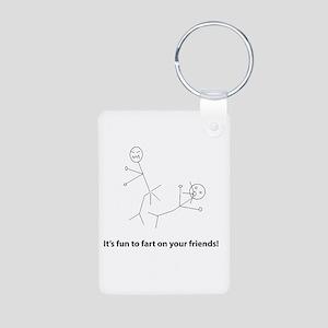 Funny Fart On Friends Aluminum Photo Keychain