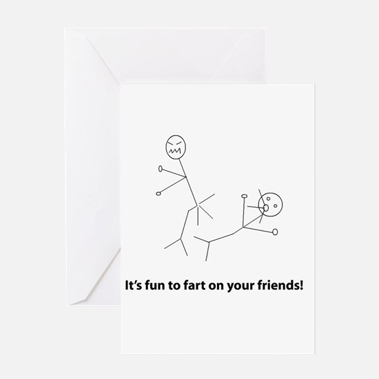 Funny Fart On Friends Greeting Card