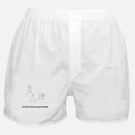 Funny Fart On Friends Boxer Shorts