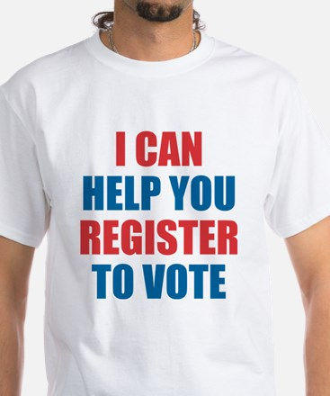 I CAN HELP YOU REGISTER TO VOTE VOLUNTEER VOTER T-