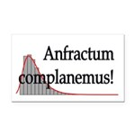 Anfractum Complanemus! Rectangle Car Magnet