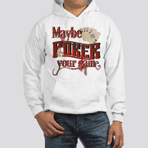 """Poker/ Spelling"" Hooded Sweatshirt"