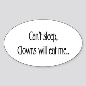 Clowns !! Oval Sticker