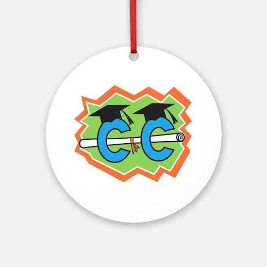 Cross Country Grad Ornament (Round)