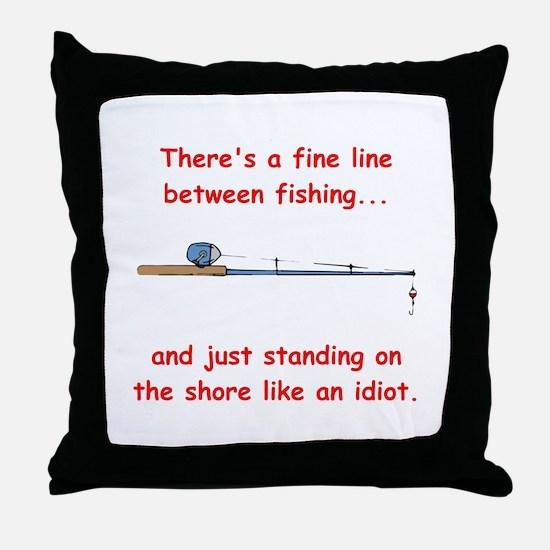 Fishing Line Throw Pillow