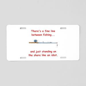 Fishing Line Aluminum License Plate