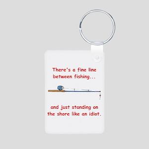 Fishing Line Aluminum Photo Keychain