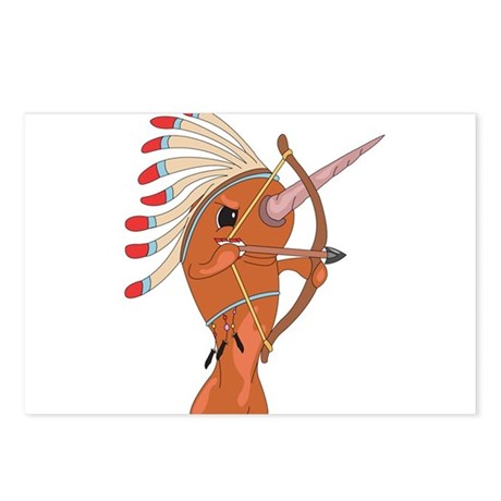 Native American Narwhal Postcards (Package of 8)