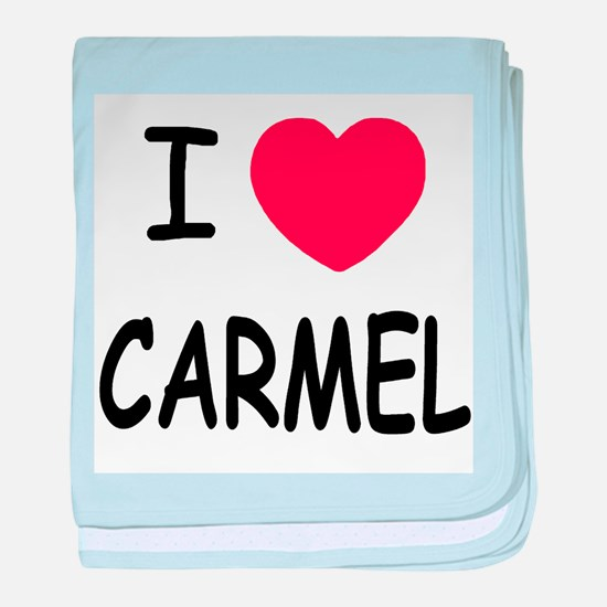 I heart Carmel baby blanket