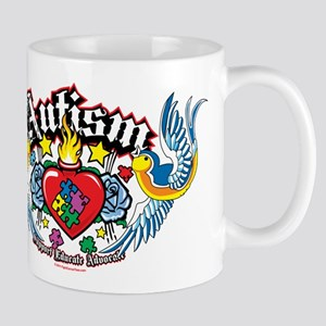 Autism Bird & Heart Mug