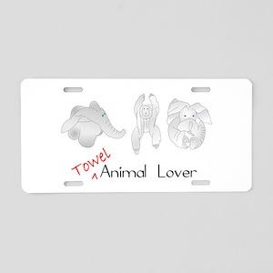 Towel Animal Lover Aluminum License Plate