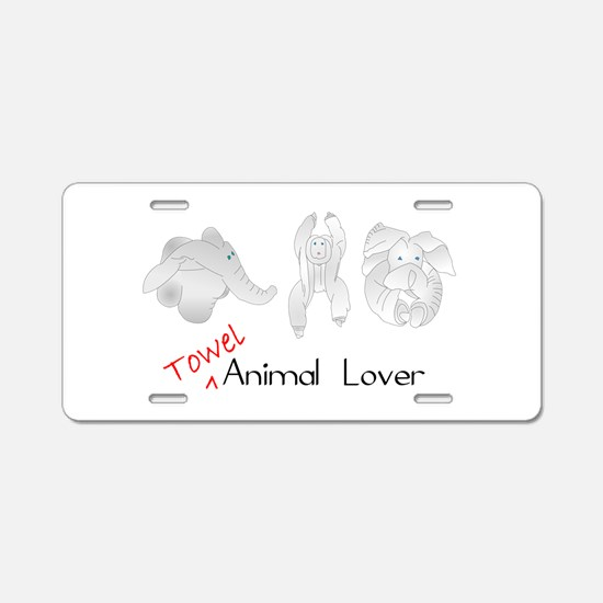 Towel Animal Lover Aluminum License Plate