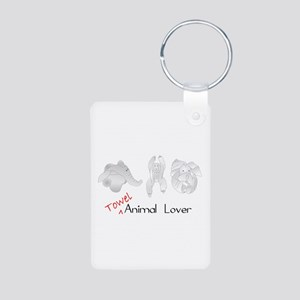 Towel Animal Lover Aluminum Photo Keychain