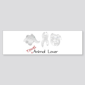 Towel Animal Lover Sticker (Bumper)
