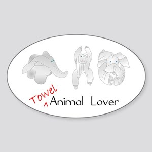 Towel Animal Lover Sticker (Oval)